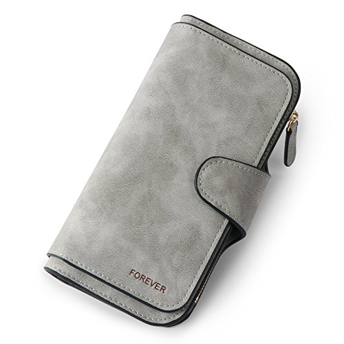 Women Purse Fashion Pu Leather Cute Clutch Long Ladies Credit Card Holder Wallet Organizer For Female Color - Gray
