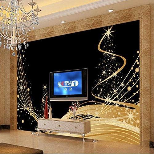 Zhcmy Árbol De Navidad Bola Foto De Nieve Año Fondo De Pantalla, Sala De Estar TV Sofá Pared Dormitorio Papel Tapiz Decoración del Hogar, 250 * 175 Cm: Amazon.es: Hogar
