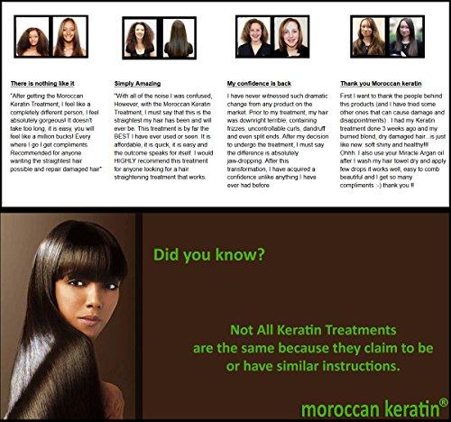 Moroccan Keratin Most Effective Brazilian Keratin Hair Treatment SET 120ML x4 Professional Salon Formula Shipping Available Worldwide by Moroccan Keratin (Image #2)