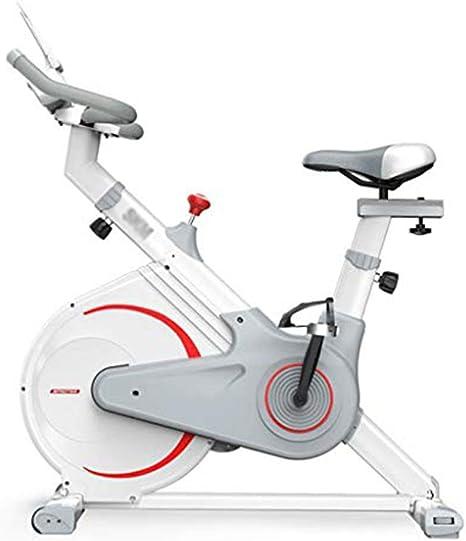 Bicicleta Estática de Fitness,Bicicleta Spinning Profesional con Monitor Multifuncional,Bicicleta Gimnasio Sensores de Pulso en Manillar Resistencia Ajustable Manillar y Asiento Estable Cómodo,Blanco: Amazon.es: Deportes y aire libre