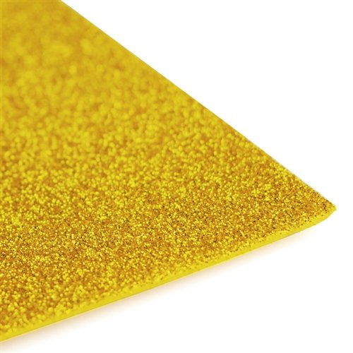Homeford Firefly Imports Glitter EVA Foam Sheet, 13 x 18-Inch, 10-Pack, Gold ()