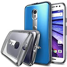 Moto G 3rd Gen. 2015 Case - Ringke FUSION [Smoke Black]***All New Dust Free Cap & Active Touch Technology***[FREE HD Screen Protector] Crystal Clear Shock Absorption TPU Bumper Drop Protection Premium Clear Hard Back for Moto G 3rd Gen. 2015