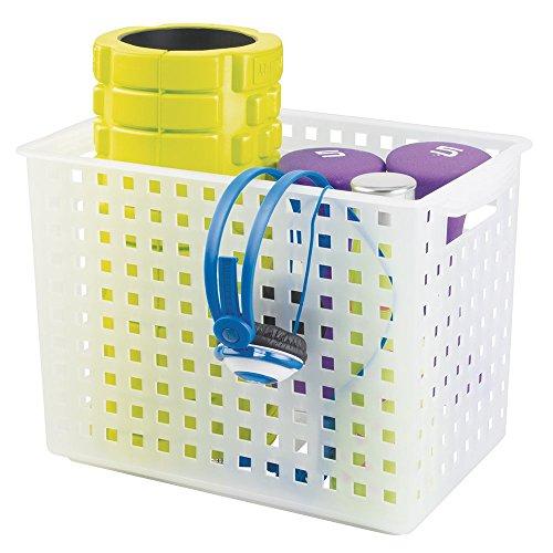 mDesign Plastic Storage Exercise Equipment
