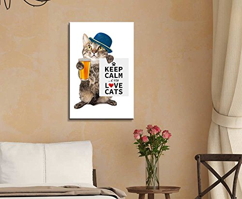 Keep Calm and Love Cats Wall Decor Stretched