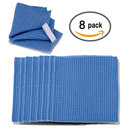 Microfiber Cleaning Cloths 15.5x13.5cm-for Eyeglasses, Sunglasses, Camera Lenses, Computer Screens, televisions and telescopes 10 Pack ()