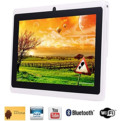Tagital 7 Quad Core Android 4.4 KitKat Tablet PC, HD Screen 1024x600, 8GB, Bluetooth, Dual Camera, Netflix, Skype, 3D Game Supported (White) Coupons