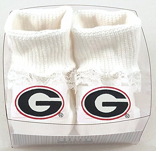 Future Tailgater Georgia Bulldogs Boxed Baby Booties Lace