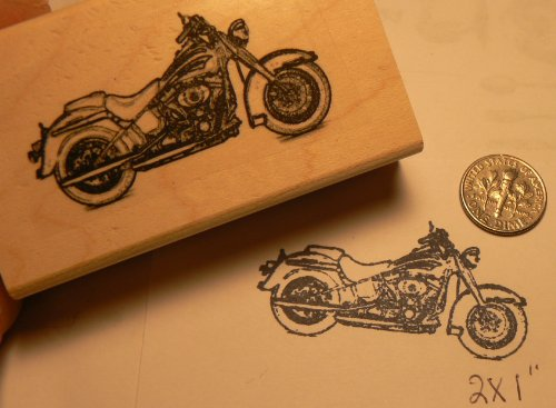 (Harley motorcycle soft tail rubber stamp P51)