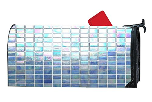 Decorative Iridescent Glass Mosaic Tile Magnetic Mailbox Cover,Personalized Vinyl Mailbox Wrap by CoolMailboxicoveriw