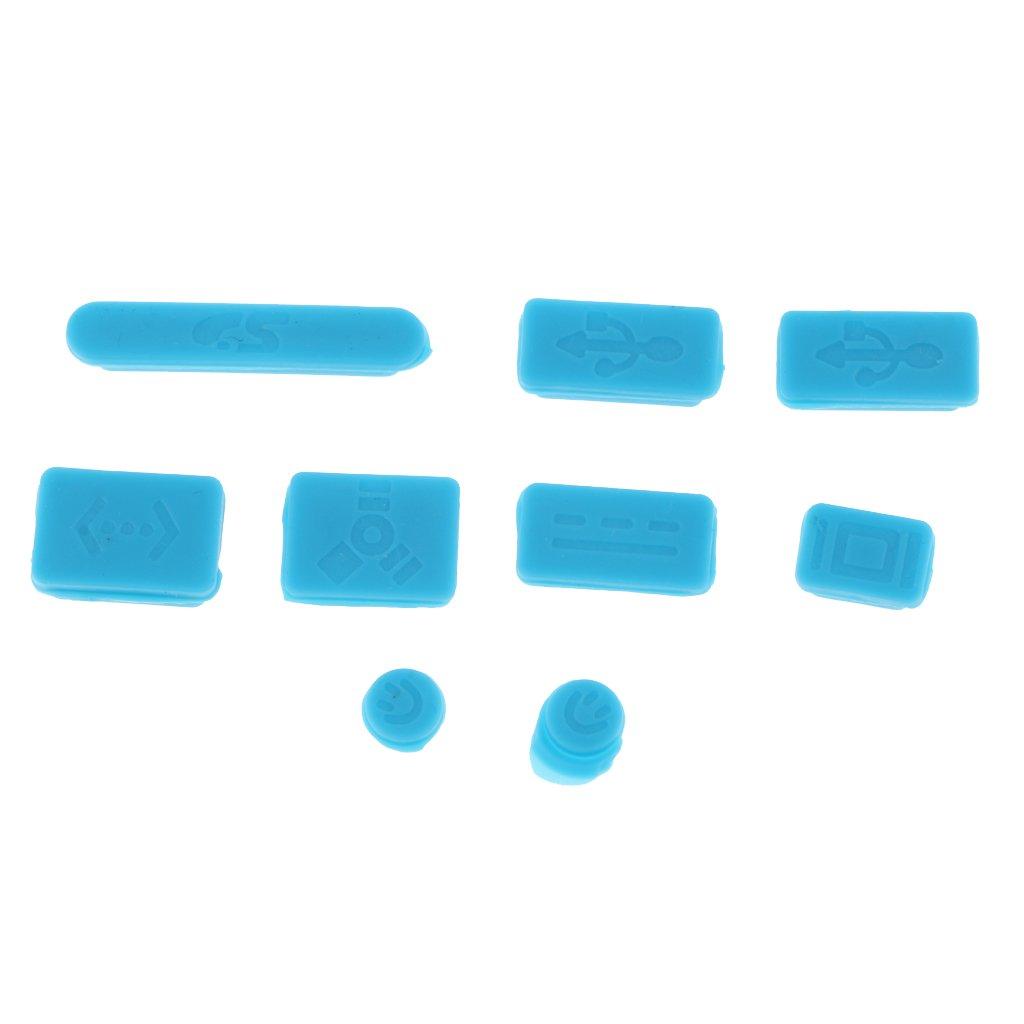 D DOLITY 9 Teile//Satz Weiche Silikon Anti-Staub Stecker USB-Port Stecker Abdeckung St/öpsel Dust Plugs f/ür MacBook pro Air 13 15 Laptops Wei/ß