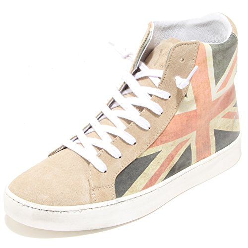 2987I sneakers uomo Y NOT? flag great britain scarpe shoes men Beige