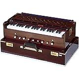 SG Musical deluxe portable Harmonium, dark mahogany, 2 reeds, 3.5 octaves, coupler