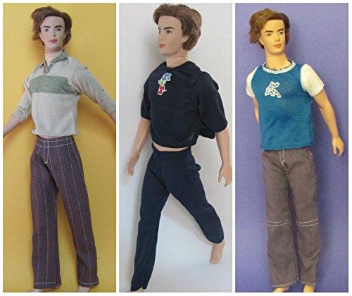 HelloJoy Lot 3 PCS Fashion Casual Wear Clothes/outfit for Barbie's Boy Friend Ken Doll -