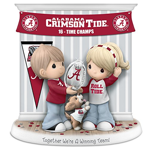 The Hamilton Collection 2015 National Champions Alabama Crimson Tide Precious Moments Porcelain Figurine