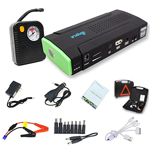 Indigi Powerful 12V Power Bank Car Jump Starter Tire Air Compressors & Inflators Power bank For iPhone Cellphone iPad Tablet Laptop Notebook PSP Camera GPS by inDigi (Image #3)