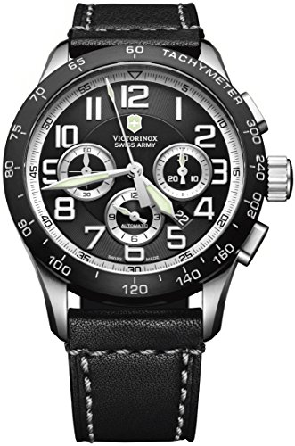 Victorinox Swiss Army Men's 241447 AirBoss Mach 6 Mechanical Black Chronograph Dial Watch