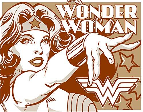 - Desperate Enterprises Wonder Woman - Duotone Tin Sign, 16