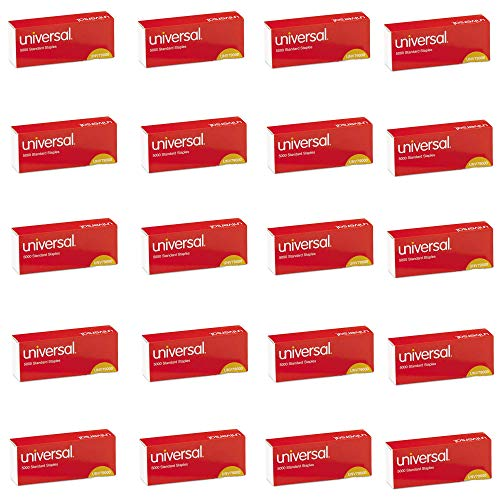 UNIVERSAL Office Products 79000VP Standard Chisel Point 210 Strip Count Staples, 5,000/Box, 20 Boxes per Pack