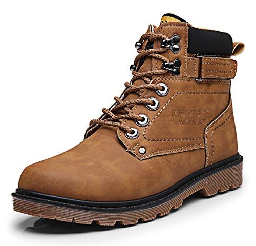 Santimon Mens Chukka Stivali Fodera In Pile Lace Up Impermeabile Antiscivolo Lavoro Allaria Aperta Escursioni Martin Boot Boot Scarpe Invernali Marrone