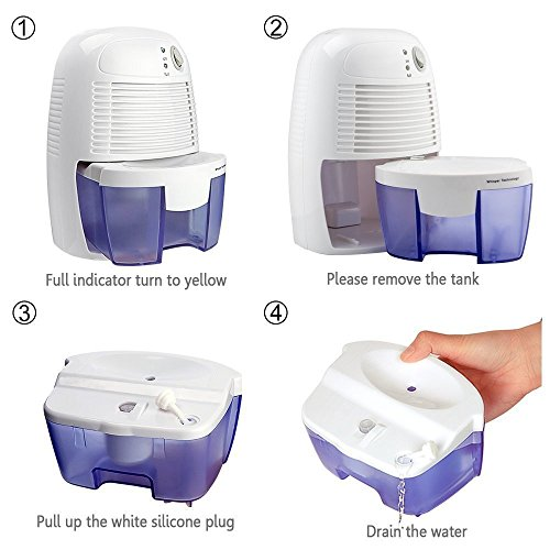 Electric Cubic Feet , Compact and for Air, Moisture Home, Bedroom, Caravan,