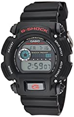 With full 200M WR, Shock Resistant, 24Hr stopwatch and countdown timer, standard issue never looked this good. Black resin band digital watch with black face.The simply designed Casio G-Shock Classic digital watch for men offers shock resista...