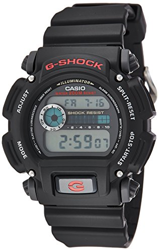 Casio Men's 'G-Shock' Quartz Resin Sport Watch, Color:Black (Model: DW9052-1V) (Strap Resin Black)