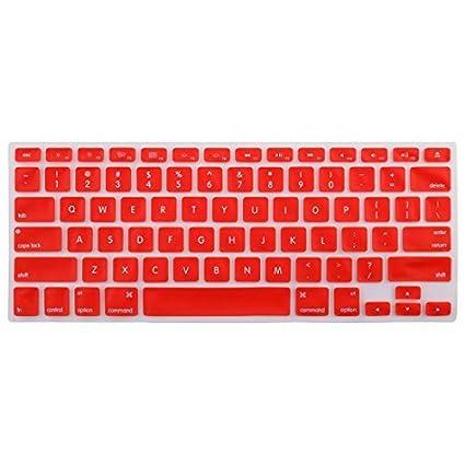 eDealMax teclado de silicona Protector de la piel cubierta del ordenador portátil inalámbrica Bluethooth Red Para