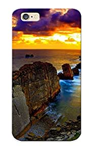 Guidepostee Protection Case For Iphone 6 / Case Cover For Christmas Day Gift(sunset Over The Rocky Coast )