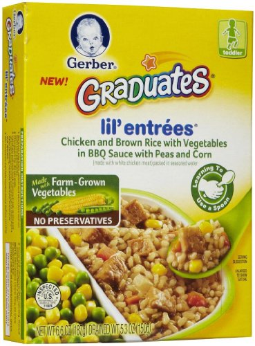 Gerber Graduates Lil' Entrees - Chicken & Brown Rice - 6.6 o