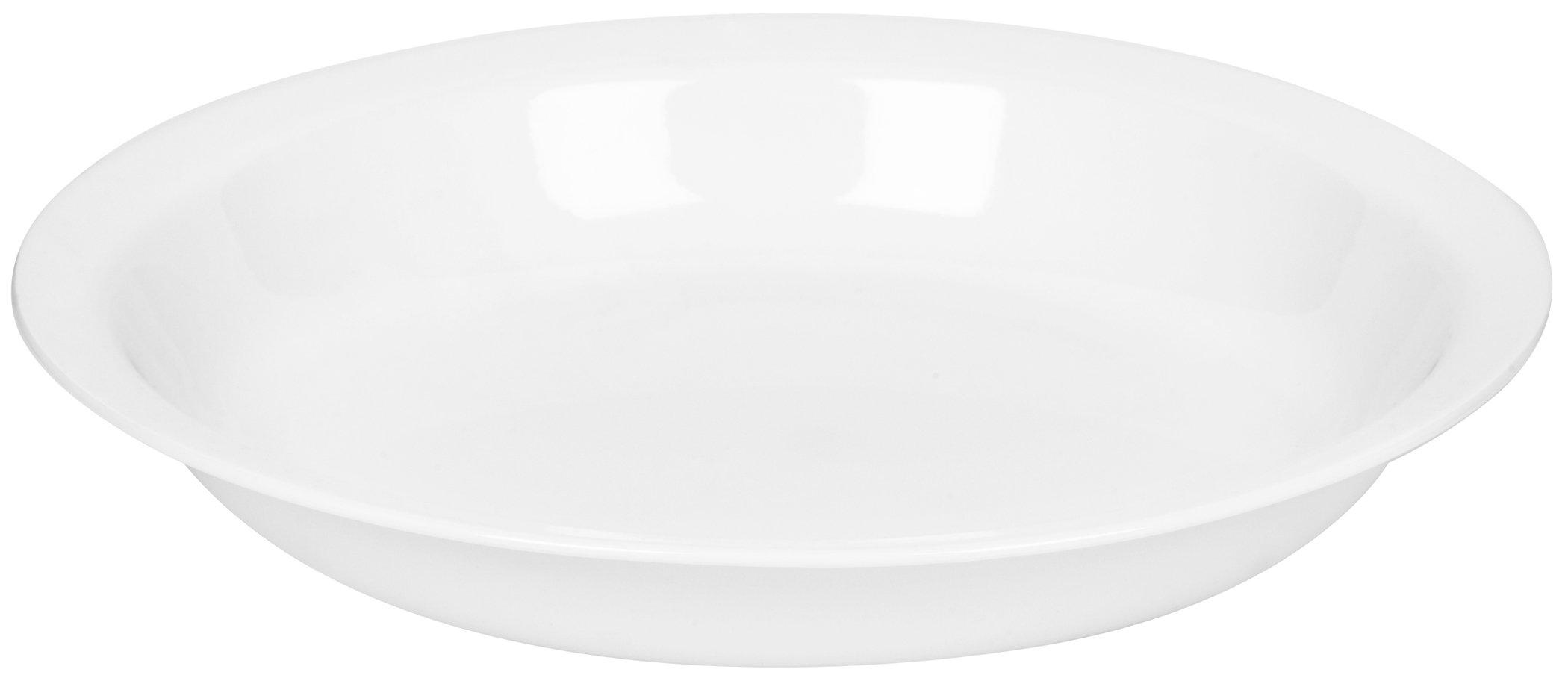 Corelle Livingware 9-Inch Deep Dish Pie Plate, Winter Frost White