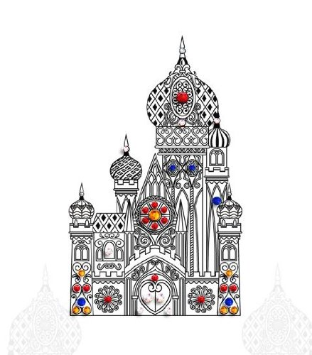 GC Castle Crystal Body Decoration Wedding Jewel Tattoo Stickers SD-009