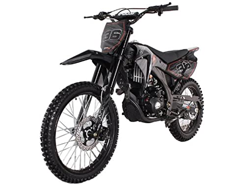 250cc Teen Adult Dirt Bike Black
