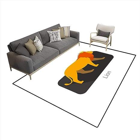 Alfombra de Dormitorio para niñas, diseño de león con Corona ...