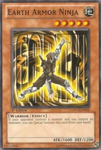 Yu-Gi-Oh! - Earth Armor Ninja (ORCS-EN016) - Order of Chaos - Unlimited Edition - Common