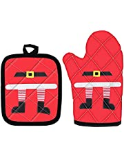 HUIACONG 2 PCS Oven Mitts+Pot Holders Sets Kitchen Counter Safe Mats Oven Gloves