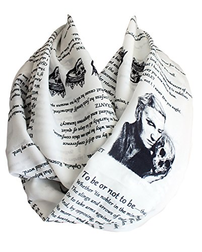 Etwoa's Shakespeare Hamlet Book Infinity Scarf Circle Loop Scarf ()