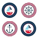 Sailboat Nautical Theme Edible Cupcake Toppers Decoration