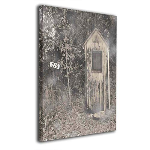 Dog Stocking Frame House Picture - Vintage Outhouse Modern Wall Painting Prints On Canvas Wall Art Frames Home Decor 16