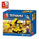 Sluban Town Excavator Building Block Toys For Kids 62 Pieces Multi Color LEGO Compatible Educational Gift Toys M38-B0176