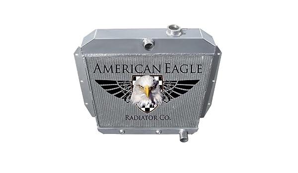 "1955-1959 Chevy Trucks Aluminum 2 Row 1/"" Tubes American Eagle Radiator AE5559"