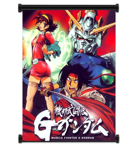 Mobile Suit Fighter G Gundam Anime Fabric Wall Scroll Poster
