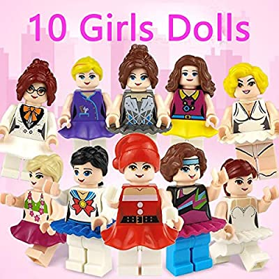 QINGQIU 15 Pack Mini Girls Boys Dolls Building Blocks in Easter Eggs for Kids Girls Boys Easter Basket Stuffers Fillers Gifts