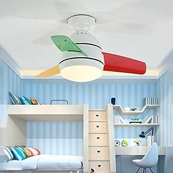 Habitación de los Niños con 3 Color DIM Dormitorio Ventilador de ...
