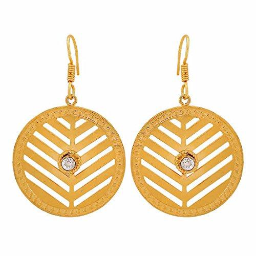 Maayra Filigree Earrings Golden Dangler Drop Dailywear Jewellery by Maayra
