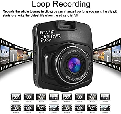 140/°Wide Angle Loop Recording and Motion Detection Anmyox 2019 Upgraded Dash Cam for Cars G-Sensor 1080P Car Dashboard Camera Full HD with 2 PACK 6ft iPhone USB Cable