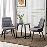 YEEFY Solid Wood Dining Chairs Kitchen Dining Set Oak Dining Room Chairs Set of 2(Gray