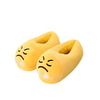 3af1f8957 Brave Tour Emoji Bedroom Slippers Plush Slippers Comfortable Indoor Shoes  Cute and Warm Slippers for Unisex
