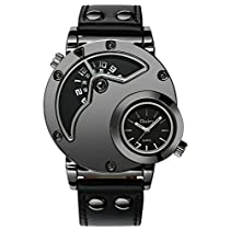 Mens Large Face Dual Time Military Tough Watches Men Fashion Desi...