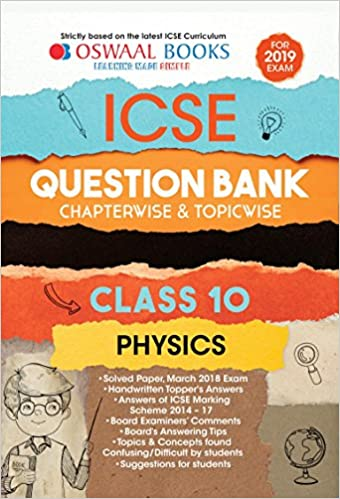 Amazon buy oswaal icse question bank class 10 physics amazon buy oswaal icse question bank class 10 physics chapterwise and topicwise for march 2019 exam book online at low prices in india oswaal icse fandeluxe Choice Image