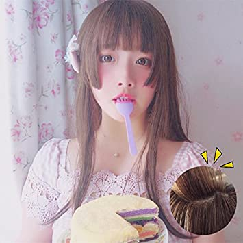 Amazon Com Wig Long Straight Hair Hime Cut Mito Is Soft Sister